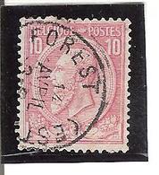 Belgique N°46  Forest (Est) V101 - 1893-1900 Fine Barbe