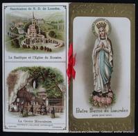 Image Pieuse Holy Card Heilig Prentje Notre Dame De Lourdes Dorée Bernadette Soubirou Lady Of Lourdes GOLD Booklet - Devotion Images
