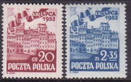 POLAND 1953 Fi 671-72 Mint Never Hinged - 1944-.... République