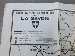 Carte Routière SAVOIE 1960  Dim.63x43cm - Roadmaps