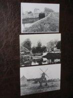 MECHELEN BATTEL - 3x ZW/W Foto Molenhof, Sas En Battelbrug - Malines