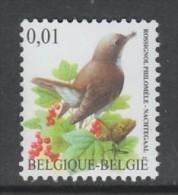TIMBRE NEUF DE BELGIQUE - OISEAU DE BUZIN : ROSSIGNOL PHILOMELE N° Y&T 3254 - Sperlingsvögel & Singvögel