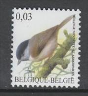 TIMBRE NEUF DE BELGIQUE - OISEAU DE BUZIN : MESANGE NONNETTE N° Y&T 3374 - Sperlingsvögel & Singvögel