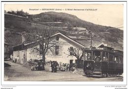 CPA 38 Seyssinet Hotel Restaurant Fayollat Et Le Train Tramway Ligne De Grenoble Villards De Lans - Francia