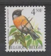 TIMBRE NEUF DE BELGIQUE - OISEAU DE BUZIN : TRAQUET PATRE N° Y&T 2397 - Sperlingsvögel & Singvögel
