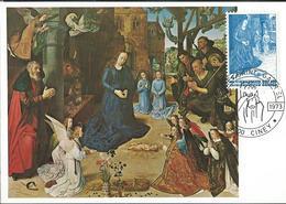 CM N° 1688  NOËL 73 : Adoration Des Bergers De Hugo Van Der Goes   Obl. Ciney 17/11/73 - Maximumkaarten