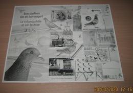 Belg. 2020 - La Colombophilie Et Son Histoire (Pigeon) ** Geschiedenis V/d Duivensport ** Zwart-Wit (Noir & Blanc) B & W - Black-and-white Panes