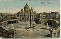 C.P.  PICCOLA    ROMA   IL  VATICANO    1908            2 SCAN  (VIAGGIATA) - Roma (Rome)