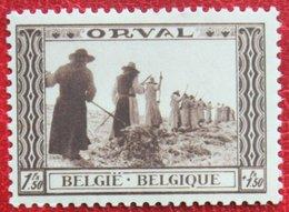 1.50Fr + 1.50Fr Abbaye Abdij Orval 1939 OBP 515 (Mi 516) POSTFRIS/ MNH ** BELGIE BELGIUM - Unused Stamps