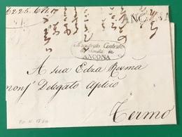 1830 ANCONA SANITA' PER FERMO{ - ...-1850 Préphilatélie