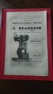 Vieux Papiers Marteaux Pilons J Beauduin Sedan 1894 - Publicités