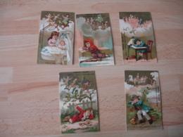Lot De 5  Interpretation Des Reve Chocolat Poulain   Chromo - Poulain