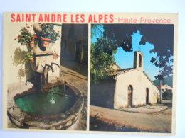 04 Saint Andre Les Alpes Station Estivale De La Haute Vallée Du Verdon Source D'eau Edit Photoguy Circulée 1975 - France
