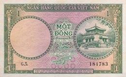 South Vietnam 1 Dong, P-1 (1956) - UNC - Viêt-Nam