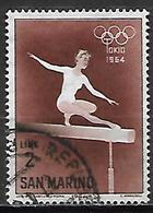 SAINT - MARIN   -   1964 .  Y&T N° 616 Oblitéré.  JO De Tokyo  /  Gymnastique  /  Poutre - San Marino