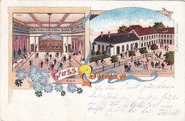 Gruss Aus Lohmen - Gasthof Zum Erbgericht - Litho -1904      (A-208-191126) - Autres