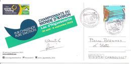 2015  Championnats Du Monde D'Aviron à Aiguebelette (France) Carte Officielle - Aviron