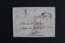 1804 LAC MARQUE LINEAIRE MILAN I.T. POUR PARIS CAD ARRIVEE  ROUGE 10 FRUCTIDOR AN 12 (28 Août 1804) ... - 1801-1848: Vorläufer XIX