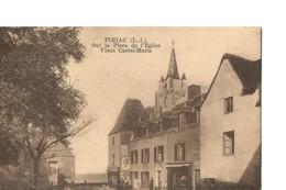 Piriac (Loire Atlantique), Sur La Place De L'Eglise - Vieux Castel-Marie, Rare Vue Des Editions Palais Epicerie Centrale - Piriac Sur Mer