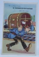 Carte Postale Fantaisie Illustrée à Système Images A Volet Le Calvaire De Pontchateau Malle - A Systèmes