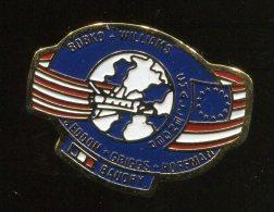 Pin's Pins - CHALLENGER - Bobko Williams Seddon Griggs Hoffman Baudry - Navette Spatial Espace - Ruimtevaart