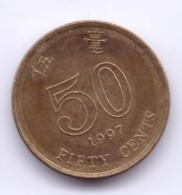 HONG KONG 1997: 50 Cents, KM 68 - Hong Kong