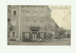 69 - BRINDAS - Café Ferret Route De Saint Martin En Haut Animé Bon état - France