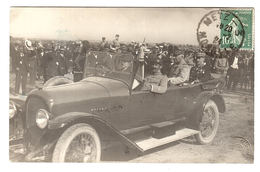 METZ (57) - CARTE PHOTO - MILITARES EN VOITURE - 1924 - MILITARIA - Metz