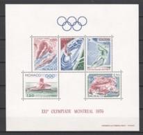 Monaco 1976 Mi Block 9 MNH SUMMER OLYMPICS - Blocks & Sheetlets
