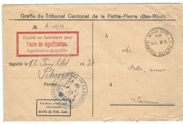 LA PETITE PIERRE Autoplan 11.7.1935 En Franchise - Marcophilie (Lettres)