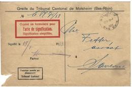 MOLSHEIM Autoplan 19.7.1933 En Franchise - 1921-1960: Periodo Moderno