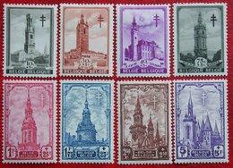 Read BELFORTEN Les Beffrois Complete Set 1939 OBP 519-526 (Mi 520-527) Ongebruikt/ MH BELGIE BELGIUM - Belgium