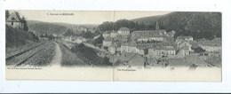 Souvenir De Bouillon Vue Panoramique ( Carte Double ) Voies Du Chemin De Fer - Luik