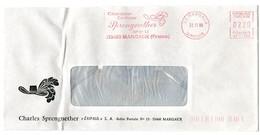 GIRONDE - Dépt N° 33 = MARGAUX 1988 = EMA Thème CHOCOLAT ' Chocolatier, Confiseur SPRENGNETHER  ' - Marcophilie (Lettres)