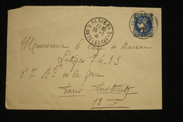 Ceres Surchargée  N°486 Seul Sur Lettre Paris 94 Rue Du Telegraphe 25/1/41 - Marcophilie (Lettres)