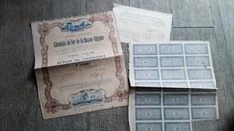 Action De Jouissance Ancienne Chemin De Fer De La Basse égypte 1904 Le Caire - Transports