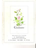 Porte Ordonnance   Pharmacie Tenon   J.Sauvalle   25 Rue Pelleport   75020   Paris  Racines De Guimauve - Papel Secante