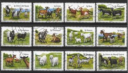 Mammifère - France Autoadhésifs N°1096 à 1107 Chèvre Chèvres Ferme Bétail élevage 2015 O - Timbres
