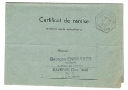 Agence Postale GRANDFONTAINE Cachet Hexagonal Perlé Type F4 En Franchise - 12.11.1952 - 1921-1960: Periodo Moderno
