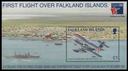 Falkland 1999 - Mi-Nr. Block 19 ** - MNH - Schiffe, Flugzeuge / Ships, Airplanes - Falkland Islands