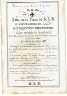KAMIOUKA Gouvernement PODOLIE, RUSSIE - Le Prince George De SAYN WITTGENSTEIN BERLEBOURG - Né 1807 Et Décédé 1857 - Images Religieuses