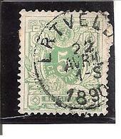 Belgique N° 45 Ertvelde Y101 - 1893-1907 Armoiries