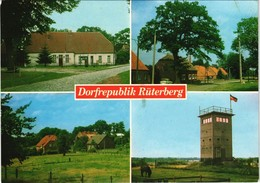 Ansichtskarte Rüterberg-Dömitz Grenze Stempel Dorfrepublik 8.Nov.1989 1990 - Dömitz