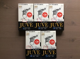 """Raccolta 5 Cassette VHS """"La Grande Storia Della Juve Dal 1897 Al 1997 La Stampa - Sports"""