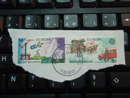 2 Timbres Timbres Europe Europa CEPT Belgique 14 F Et 8 F. Oblitération Flobecq 7880 - Belgium