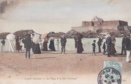 Saint Malo La Plage Et Le Fort National - France