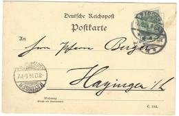 ZABERN / SAVERNE - Carte Postale 7.12.1904 Cachet D'arrivée HAYANGE / HAYINGEN (LOTHRINGEN) 8.12.1904 - Marcophilie (Lettres)