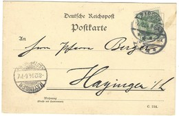 ZABERN / SAVERNE - Carte Postale 7.12.1904 Cachet D'arrivée HAYANGE / HAYINGEN (LOTHRINGEN) 8.12.1904 - 1921-1960: Modern Tijdperk