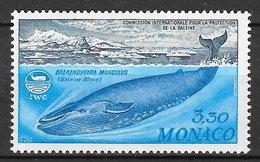 Mammifère - Monaco N°1372 Mammifère Marin Cétacé Baleine 1983 ** - Balene
