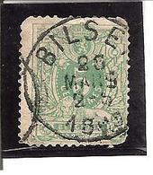 Belgique N° 45 BILSEN Y104 - 1893-1907 Armoiries